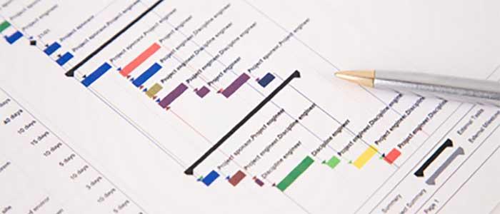 تهیه برنامه زمانبندی پروژه آموزش اکسل در مدیریت محدوده و زمانبندی پروژه